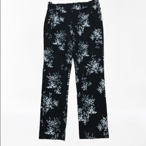 Jules & Leopold pants, B&W stretch floral size S